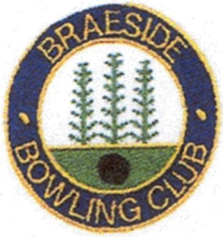The badge depicts the Pine Trees surrounding the green. Braeside Club was founded by Mr. J Clarke in 1978 on an outdoor carpet with 60 members. The original small pavilion was replaced by the present one in August 1988 and was opened by David Bryant. It has always been a mixed club.